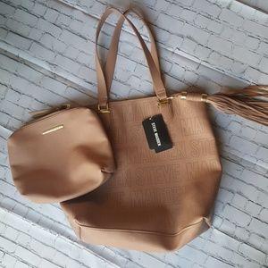 Steve Madden Bsaylor Logo Tote Blush bag in bag